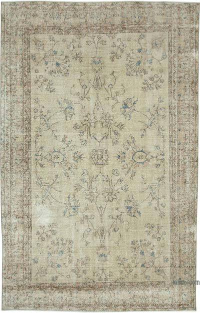 """Vintage Turkish Hand-knotted Area Rug - 6' 10"""" x 10' 8"""" (82 in. x 128 in.)"""