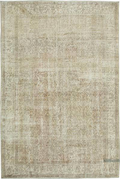 "Vintage Turkish Hand-knotted Area Rug - 6' 10"" x 9' 11"" (82 in. x 119 in.)"