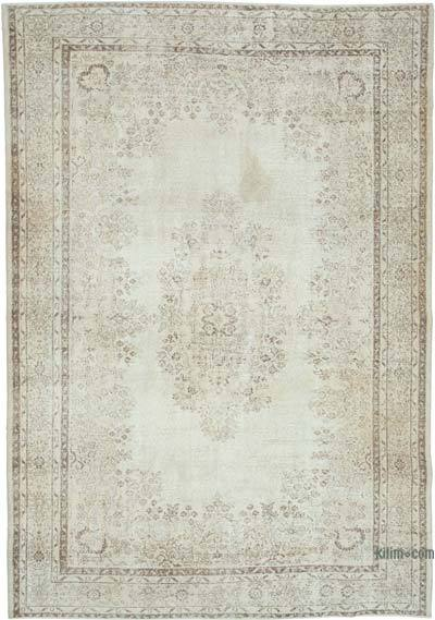 "Vintage Turkish Hand-knotted Area Rug - 7' 2"" x 10' 2"" (86 in. x 122 in.)"
