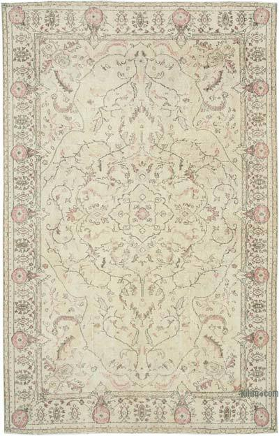 "Vintage Turkish Hand-knotted Area Rug - 6' 7"" x 10' 6"" (79 in. x 126 in.)"