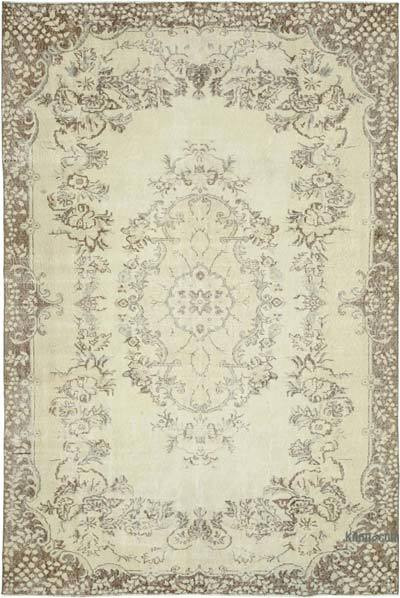 """Vintage Turkish Hand-knotted Area Rug - 6' 10"""" x 9' 11"""" (82 in. x 119 in.)"""