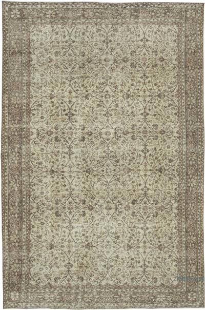 "Vintage Turkish Hand-knotted Area Rug - 6' 11"" x 10' 4"" (83 in. x 124 in.)"