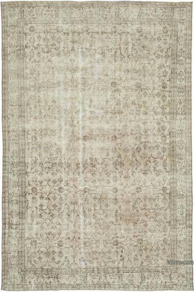 """Vintage Turkish Hand-knotted Area Rug - 6' 11"""" x 10' 7"""" (83 in. x 127 in.)"""