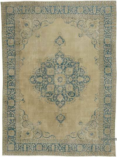 """Vintage Turkish Hand-knotted Area Rug - 8' 10"""" x 11' 11"""" (106 in. x 143 in.)"""