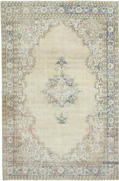 """Vintage Turkish Hand-Knotted Rug - 6' 9"""" x 10' 4"""" (81 in. x 124 in.)"""