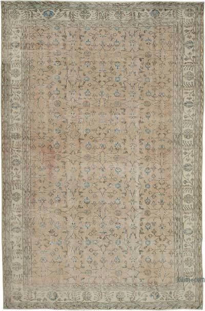 "Vintage Turkish Hand-knotted Area Rug - 7'  x 10' 10"" (84 in. x 130 in.)"