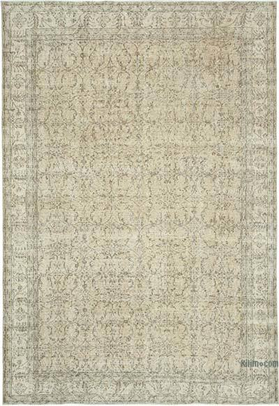 "Vintage Turkish Hand-knotted Area Rug - 6' 10"" x 10' 2"" (82 in. x 122 in.)"
