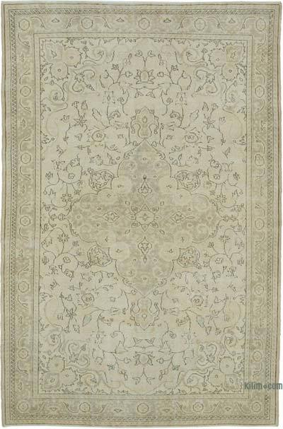 """Vintage Turkish Hand-knotted Area Rug - 6' 11"""" x 10' 9"""" (83 in. x 129 in.)"""