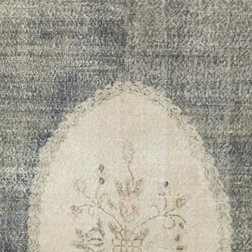 """Vintage Turkish Hand-Knotted Rug - 7' 3"""" x 11' 11"""" (87 in. x 143 in.) - K0048927"""