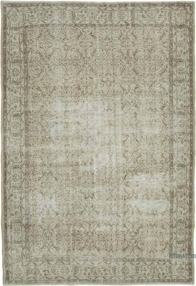"Vintage Turkish Hand-knotted Area Rug - 7' 5"" x 10' 8"" (89 in. x 128 in.)"