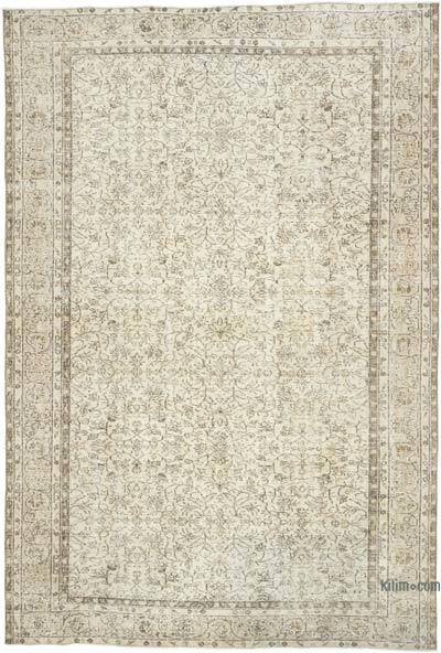 """Vintage Turkish Hand-knotted Area Rug - 6' 9"""" x 10' 1"""" (81 in. x 121 in.)"""