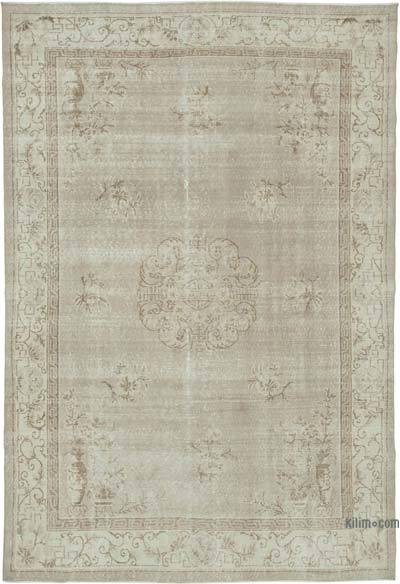 """Vintage Turkish Hand-knotted Area Rug - 7' 1"""" x 10' 5"""" (85 in. x 125 in.)"""