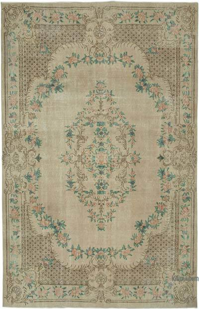 """Vintage Turkish Hand-knotted Area Rug - 6' 11"""" x 10' 11"""" (83 in. x 131 in.)"""