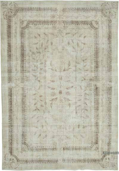 """Vintage Turkish Hand-knotted Area Rug - 7' 1"""" x 10'  (85 in. x 120 in.)"""