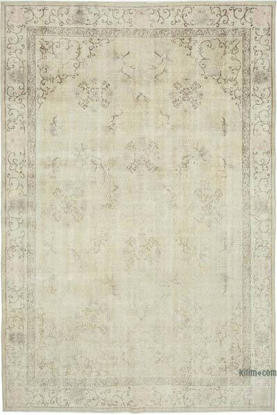 """Vintage Turkish Hand-Knotted Rug - 6' 11"""" x 10' 2"""" (83 in. x 122 in.)"""