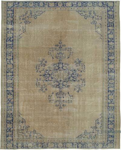 "Vintage Turkish Hand-knotted Area Rug - 7' 9"" x 9' 8"" (93 in. x 116 in.)"