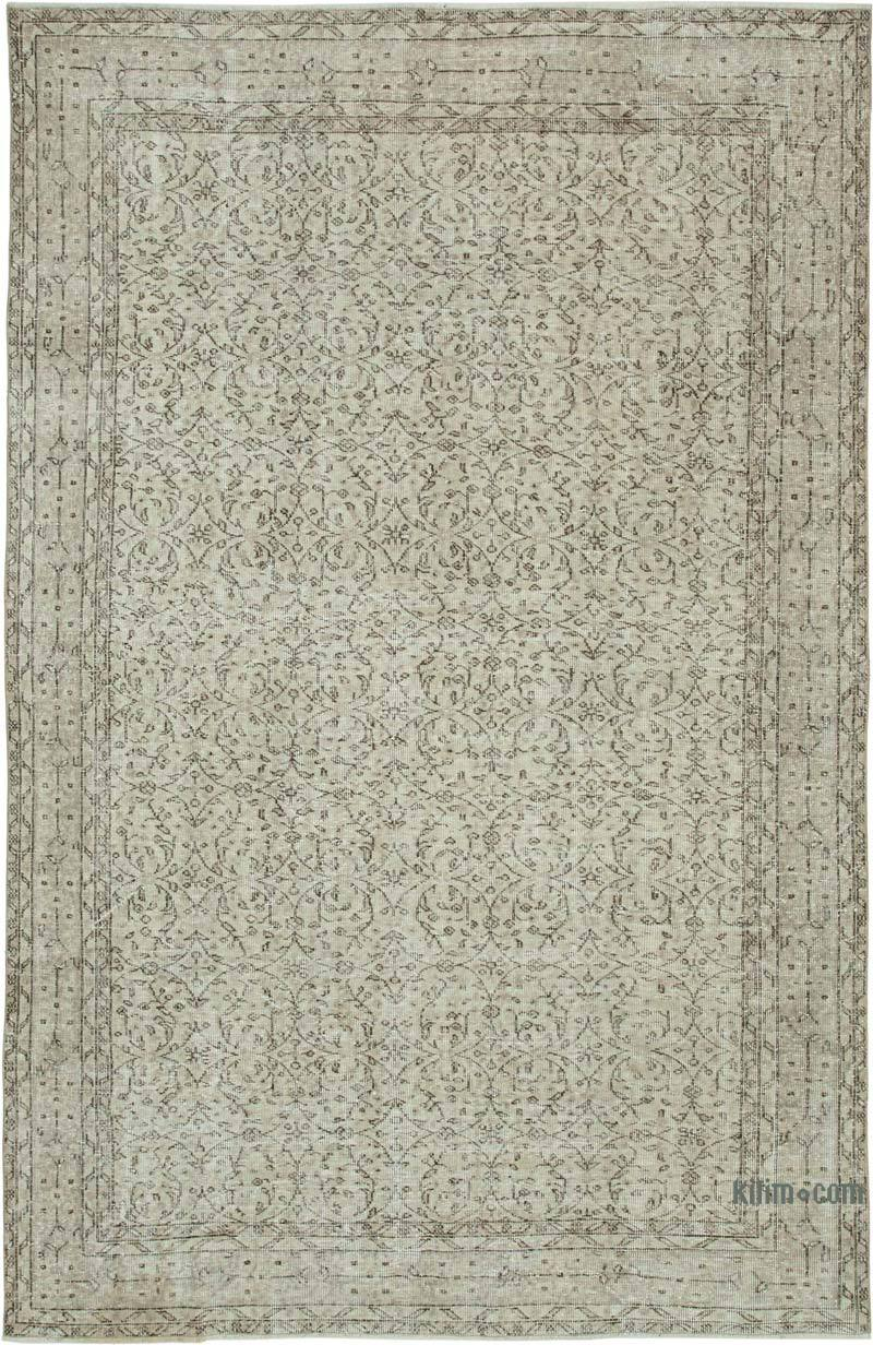 """Vintage Turkish Hand-Knotted Rug - 6' 11"""" x 10' 4"""" (83 in. x 124 in.) - K0048967"""