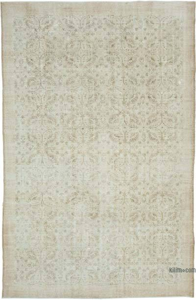 "Vintage Turkish Hand-knotted Area Rug - 6' 11"" x 10' 9"" (83 in. x 129 in.)"