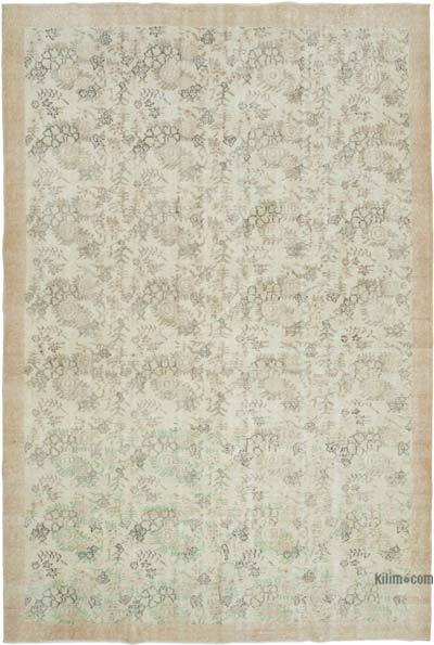 """Vintage Turkish Hand-knotted Area Rug - 7' 3"""" x 10' 7"""" (87 in. x 127 in.)"""