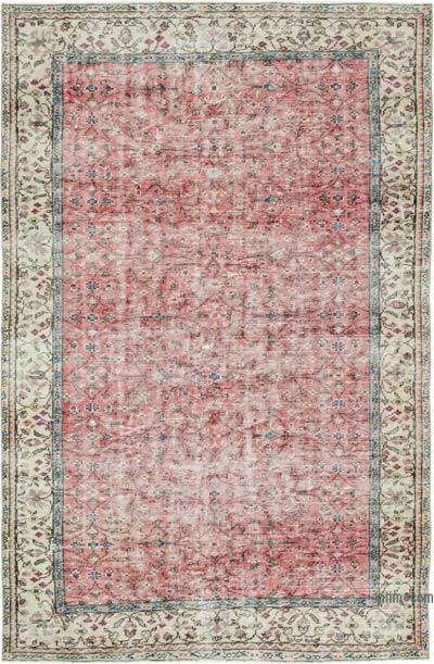 """Vintage Turkish Hand-Knotted Rug - 5' 6"""" x 8' 6"""" (66 in. x 102 in.)"""
