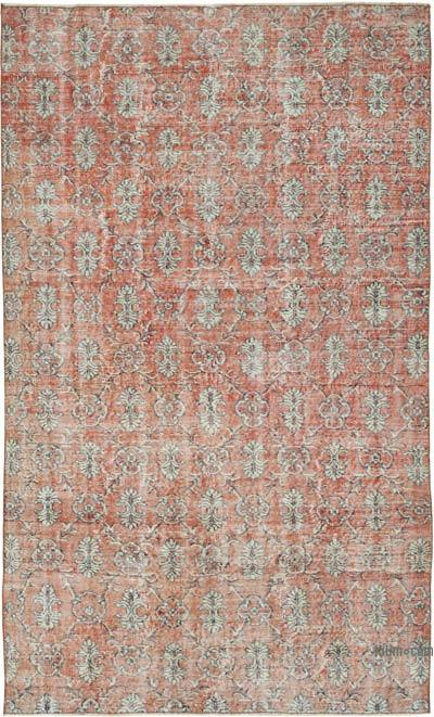 "Vintage Turkish Hand-knotted Area Rug - 5' 2"" x 8' 8"" (62 in. x 104 in.)"