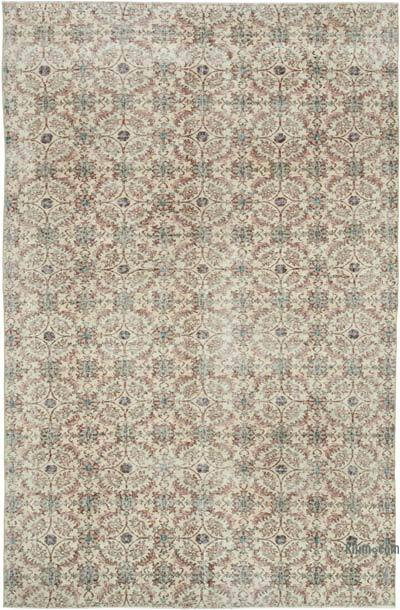 """Vintage Turkish Hand-Knotted Rug - 6' 4"""" x 9' 7"""" (76 in. x 115 in.)"""