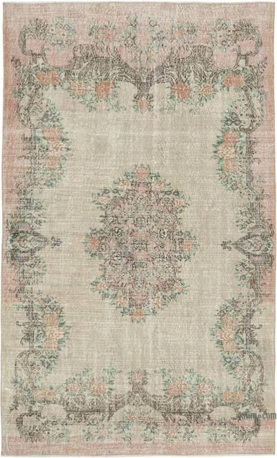 "Vintage Turkish Hand-knotted Area Rug - 5' 6"" x 9'  (66 in. x 108 in.)"