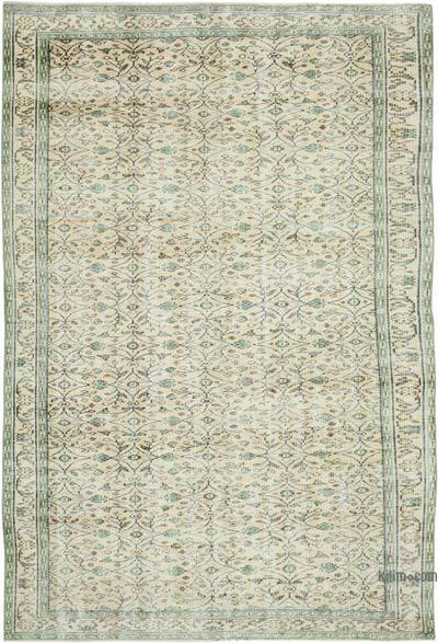 """Vintage Turkish Hand-knotted Area Rug - 5' 10"""" x 8' 9"""" (70 in. x 105 in.)"""
