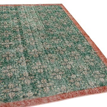 """Vintage Turkish Hand-Knotted Rug - 5' 5"""" x 8' 4"""" (65 in. x 100 in.) - K0048990"""