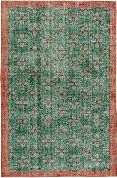 """Vintage Turkish Hand-Knotted Rug - 5' 5"""" x 8' 4"""" (65 in. x 100 in.)"""