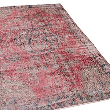 """Vintage Turkish Hand-Knotted Rug - 4' 10"""" x 8'  (58 in. x 96 in.) - K0048993"""