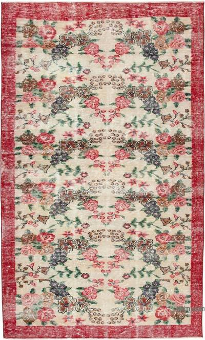 "Vintage Turkish Hand-knotted Area Rug - 5' 3"" x 8' 7"" (63 in. x 103 in.)"