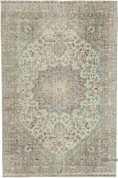 """Vintage Turkish Hand-knotted Area Rug - 6' 9"""" x 10'  (81 in. x 120 in.)"""
