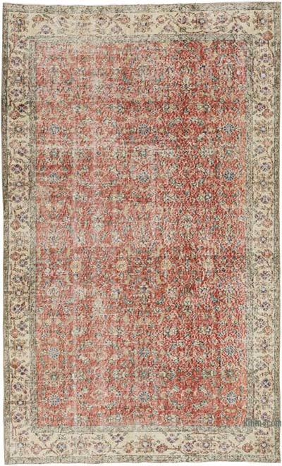 """Vintage Turkish Hand-knotted Area Rug - 5'  x 8' 4"""" (60 in. x 100 in.)"""