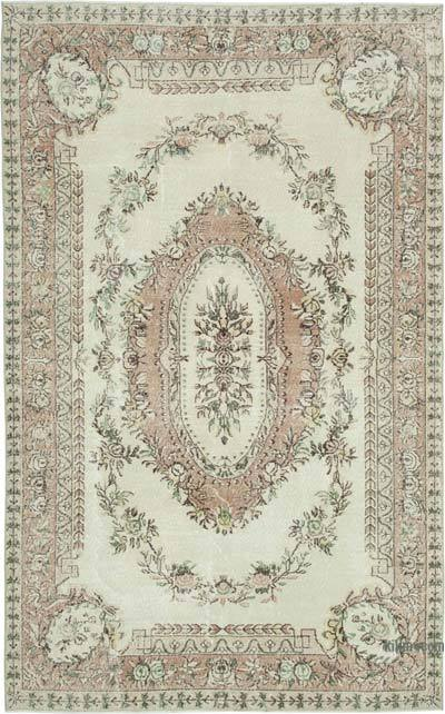 "Vintage Turkish Hand-knotted Area Rug - 6' 6"" x 10' 4"" (78 in. x 124 in.)"