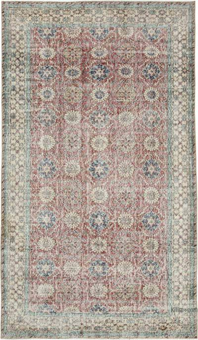 """Vintage Turkish Hand-knotted Area Rug - 4' 10"""" x 8' 2"""" (58 in. x 98 in.)"""