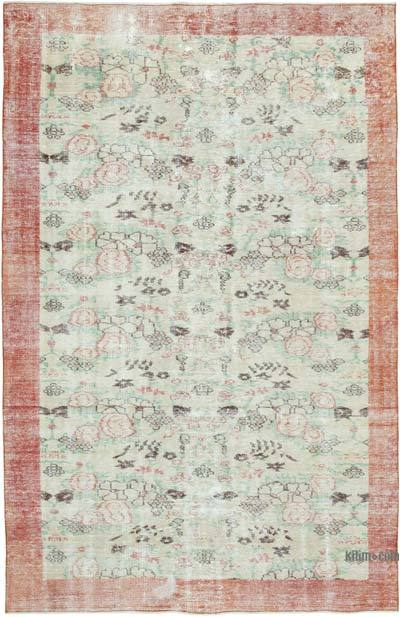 """Vintage Turkish Hand-Knotted Rug - 5' 10"""" x 9' 1"""" (70 in. x 109 in.)"""