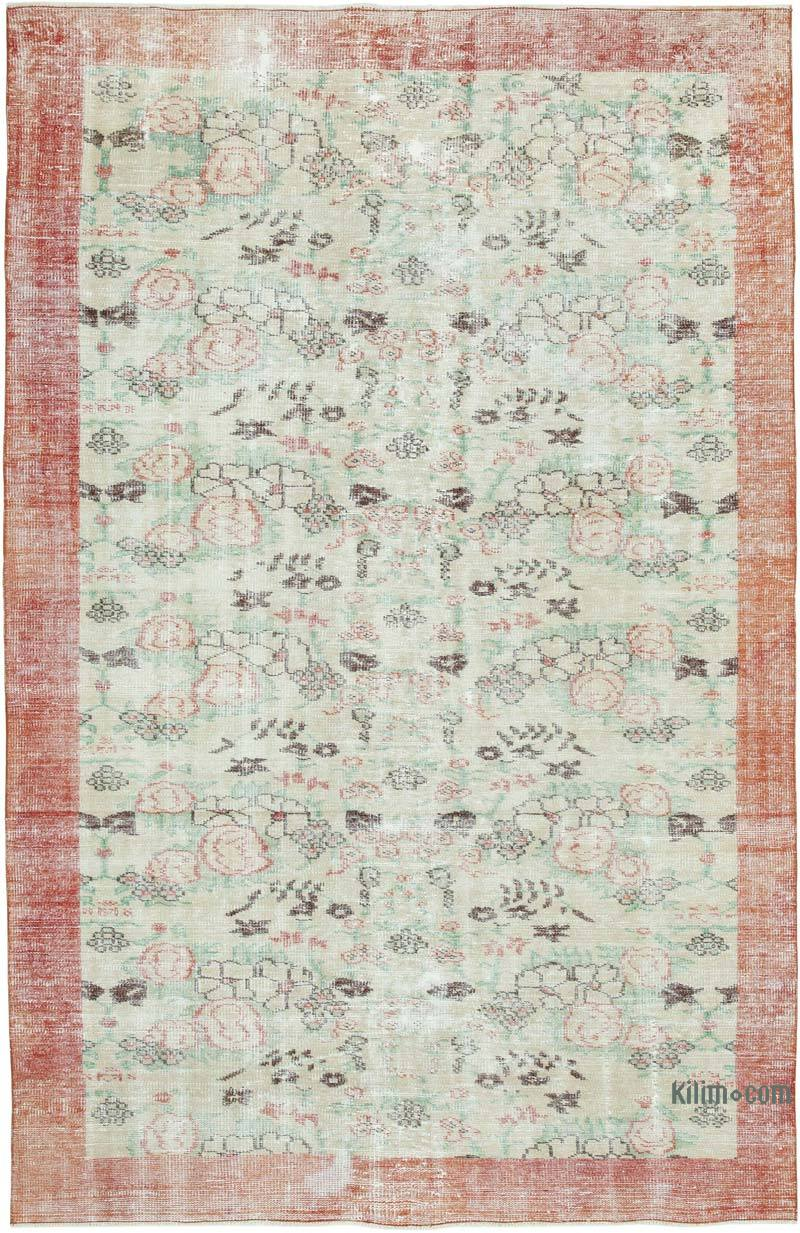 """Vintage Turkish Hand-Knotted Rug - 5' 10"""" x 9' 1"""" (70 in. x 109 in.) - K0049011"""