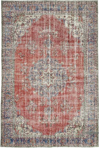 """Vintage Turkish Hand-knotted Area Rug - 6' 7"""" x 9' 7"""" (79 in. x 115 in.)"""