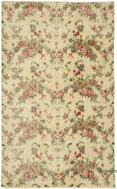 """Vintage Turkish Hand-Knotted Rug - 5' 2"""" x 8' 4"""" (62 in. x 100 in.)"""