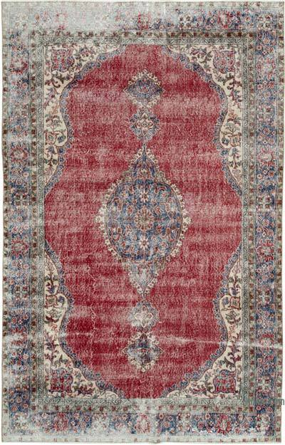 "Vintage Turkish Hand-knotted Area Rug - 6' 5"" x 10'  (77 in. x 120 in.)"