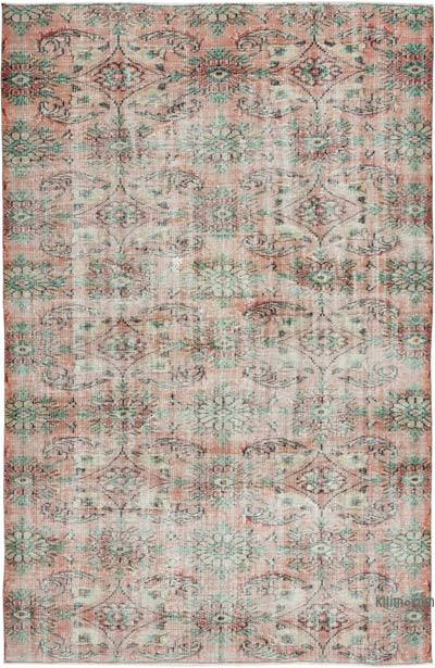 """Vintage Turkish Hand-knotted Area Rug - 5' 9"""" x 8' 11"""" (69 in. x 107 in.)"""