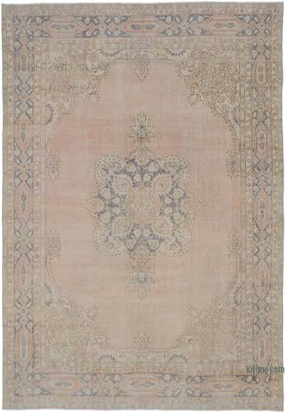 "Vintage Turkish Hand-knotted Area Rug - 6' 11"" x 10' 1"" (83 in. x 121 in.)"