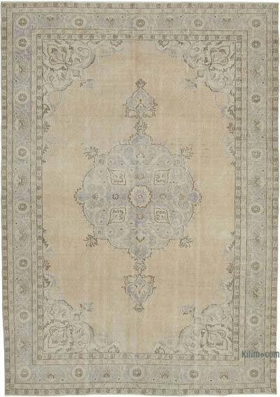 """Vintage Turkish Hand-knotted Area Rug - 7' 8"""" x 10' 9"""" (92 in. x 129 in.)"""
