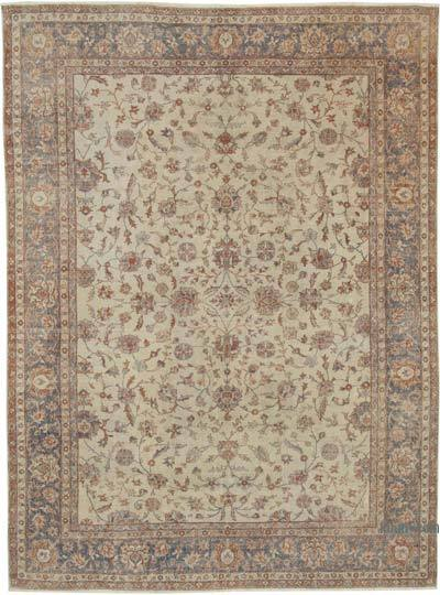 """Vintage Turkish Hand-knotted Area Rug - 8' 6"""" x 11' 3"""" (102 in. x 135 in.)"""