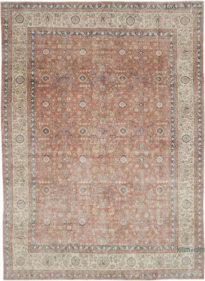 """Vintage Turkish Hand-knotted Area Rug - 8' 2"""" x 11' 4"""" (98 in. x 136 in.)"""