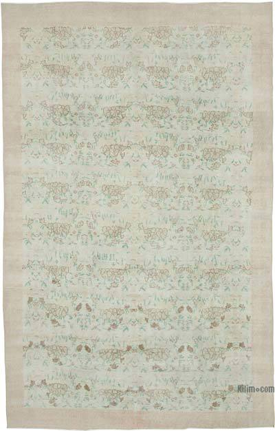 """Vintage Turkish Hand-knotted Area Rug - 7' 1"""" x 11' 3"""" (85 in. x 135 in.)"""