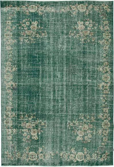 "Vintage Turkish Hand-knotted Area Rug - 7' 1"" x 10' 7"" (85 in. x 127 in.)"