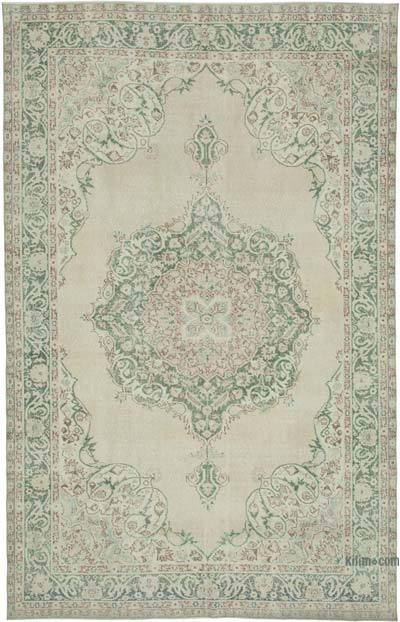 "Vintage Turkish Hand-knotted Area Rug - 6' 11"" x 10' 11"" (83 in. x 131 in.)"