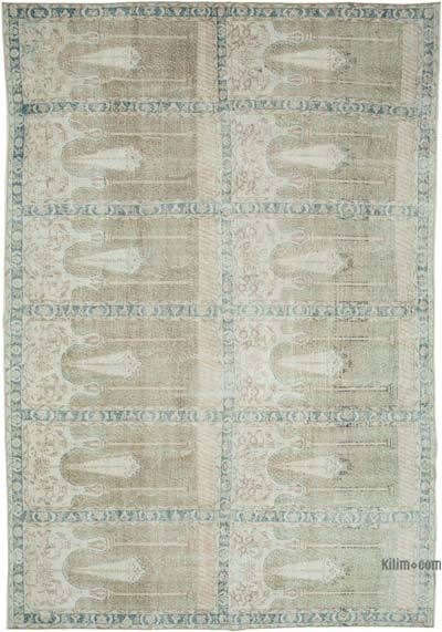 "Vintage Turkish Hand-knotted Area Rug - 8' 6"" x 12' 5"" (102 in. x 149 in.)"